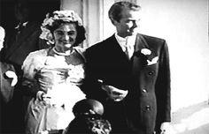 Jimmy and Gloria Stewart on their wedding day.