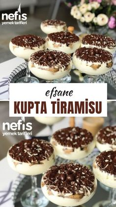 Efsane Kupta Tiramisu (Videolu) – Nefis Yemek Tarifleri – Tatlı tarifleri – The Most Practical and Easy Recipes Smoothie Recipes, Soup Recipes, Dessert Recipes, Yummy Recipes, How To Make Tiramisu, Potato Cheese Soups, Iftar, Turkish Recipes, Food To Make
