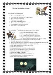 English worksheet: Over the garden wall episode 1