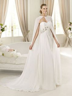 Breenda-Vestido de Noiva em tecido de seda - dresseshop.pt