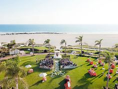 A gorgeous seaside wedding ceremony at Hotel del Coronado.
