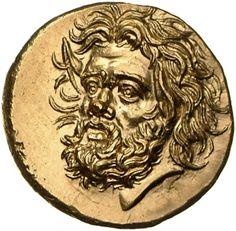 Statere - oro - Panticapeion, Cheronneso (Ukraina) (380-303 a.C.) - testa di Pan con orecchie ferine di tre quarti vs.sn. - Münzkabinett Berlin