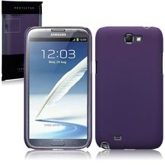 Jellibean | Samsung N7100 Galaxy Note 2 Rubberised Hard Back Cover - Purple