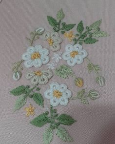 This Pin was discovered by han Embroidery Alphabet, Wool Embroidery, Ribbon Embroidery, Brazilian Embroidery Stitches, Embroidery Stitches Tutorial, Embroidery Patterns, Stitch Book, Cross Stitch, Fabric Painting