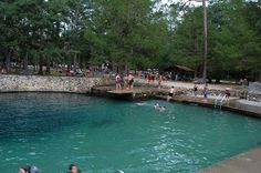 Ponce de Leon State Park ~ ~ Natural Spring with diving platform over the deep water
