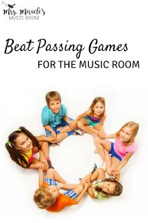 Beat passing games for the music room: Great singing games for the upper elementary music classroom!