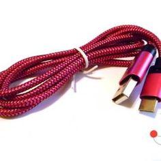 Cablu de transfer date si incarcare mufa USB Type C, fir impletitura textila Usb, Type