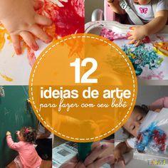 Semana Mundial do Brincar: 12 maneiras de fazer Arte com o seu bebê Reggio Emilia, Infant Activities, New Life, Baby Toys, Montessori, Education, Kids, Gabriel, Safari