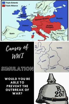 Causes of World War I Simulation #highschool #middleschool #history #socialstudies #WWI #WWIactivities #socialstudiesactivities #highschoolsocialstudies #worldwarI