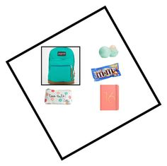 """""""whats in my bag fall eddition"""" by lizzymeilee ❤ liked on Polyvore featuring JanSport and Eos"""
