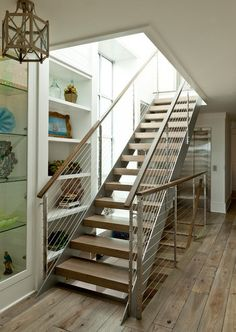 beach style staircase by Anne Michaelsen Design