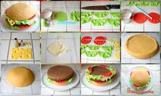How to make a hamburger cake