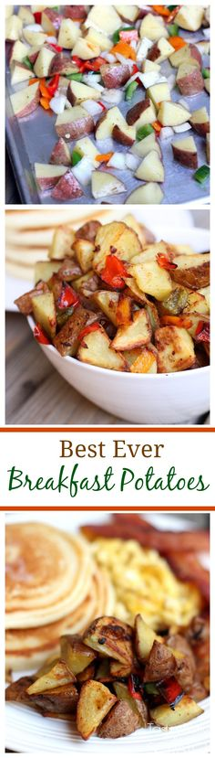 Potatoes These are the best Breakfast Potatoes Ever! So easy to make and roasted with bell peppers and onion.These are the best Breakfast Potatoes Ever! So easy to make and roasted with bell peppers and onion. Breakfast Desayunos, Breakfast Dishes, Breakfast Recipes, Breakfast Ideas, Homemade Breakfast, Healthy Breakfast Options, Breakfast Casserole, Cooking Recipes, Healthy Recipes