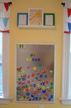 magnetic board and lots of other playroom ideas | My Design Home