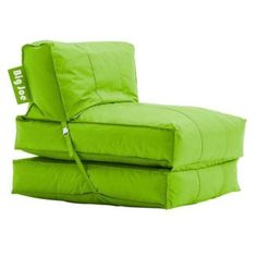 Broyhill Sofa Big Joe Flip Lounger Green Bean Bag Chair Dorm Kids Room TV Couch Sofa Sleeper
