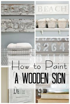 You are only a couple hours away from personalizing every room in your house with its own wooden sign. Using reclaimed wood, and a little imagination, you can create a meaningful piece of artwork to hang in every room. Maybe it's your child's favorite quo Diy Projects To Try, Home Projects, Painted Furniture, Diy Furniture, Diy Wall, Wall Decor, Do It Yourself Baby, Home Decoracion, Diy Inspiration