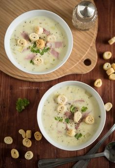 Mirabelkowy blog: Zupa serowa z szynką Snack Recipes, Snacks, Cheeseburger Chowder, Favorite Recipes, Sweets, Cooking, Food, Snack Mix Recipes, Sweet Pastries