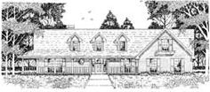 Country Style House Plans - 2075 Square Foot Home, 1 Story, 3 Bedroom and 2 3 Bath, 2 Garage Stalls by Monster House Plans - Plan 75-428