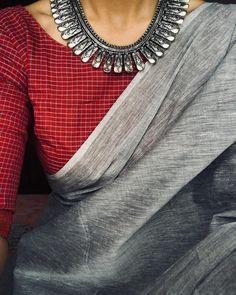Beautiful SIlk Cotton Saree The saree comes with Digital print saree with Silk blend cotton fabric with Design digital print Blouse . The saree soft and blouse shinny. Sari Blouse Designs, Saree Blouse Patterns, Trendy Sarees, Stylish Sarees, Fancy Sarees, Sari Bluse, Grey Saree, Saree Jewellery, Saree Trends