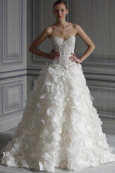 Monique Lhuillier Orchid Wedding Dress $4,000