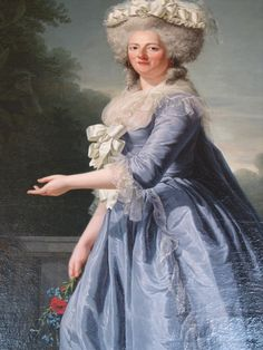 Madame Victoire by Labille-Guiard. Victoire was another of Louis XV's daughters, who remained at Versailles as middle aged spinsters.