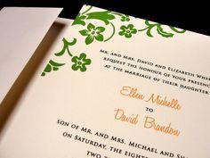 A Touch of the Tropics Beach Custom Color Wedding Invitation Spring Summer