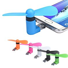 Portable Micro USB Cooling Fan Mute Mini Cooler For Mobile Android Cell Phone