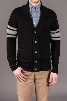 Men's Comfy V-Neck Buttondown Sweater.