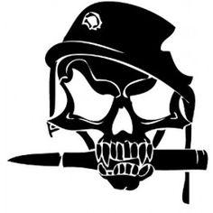 Bayonet Skull Decal