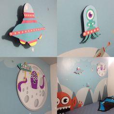 Habitaciones infantiles Monster Medellín bebes arte más vinilo