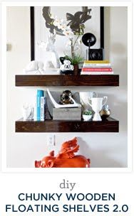 Diy Chunky Wooden Floating Shelves: Round 2
