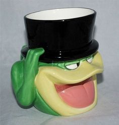 Michigan J. Frog Ceramic Mug Cup Warner Bros. 1995 Applause Inc. Top Hat / Cane #Warner