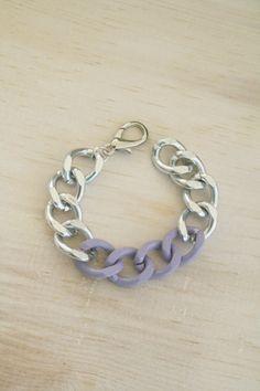 Silver Aurora Chain Bracelet by trishabdesigns on Etsy