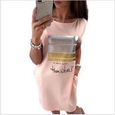 vistito donna maglioncino pullover Manica Corta Lettera stampa Nuovo 2017  | Abbigliamento e accessori, Donna: abbigliamento, Vestiti | eBay!