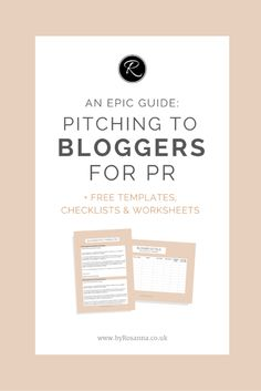 Small business thinking of working with bloggers for outreach? Check out my epic guide (includes FREE downloadable worksheets + templates)