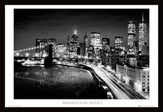 Manhattan Night (24x36) - BAW90009