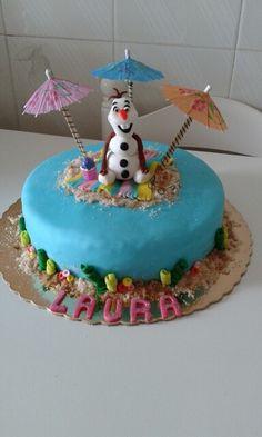 """Bolo """" Frozen """" o que a neve faz no verão"""