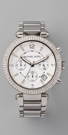 Michael Kors white gold watch. X-mas gift from the boyfran