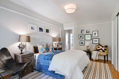 Clean Crisp Guest Bed Idea Tamara Mack Design