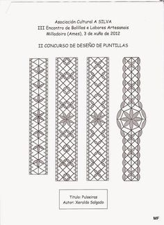 Pulseras de boliĺos Hobbies And Crafts, Arts And Crafts, Bobbin Lace Patterns, Lacemaking, Lace Heart, Lace Jewelry, Crochet Books, Lace Detail, Tatting