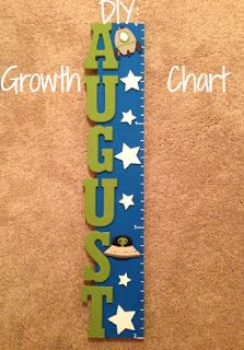 Lean Green Mama: DIY: Make Your Own Growth Chart