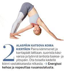 Aineenvaihdunta käyntiin ja lisää energiaa! Herätä keho 10 minuutin joogasarjalla | Me Naiset Keeping Healthy, Excercise, Hiit, You Can Do, Pilates, Health Fitness, Mindfulness, Workout, Jenni