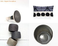 gray love by kate on Etsy featuring gray minimalist concrete oval ring by shooohsJewelry #concrete #gray #ring #oval #minimalist