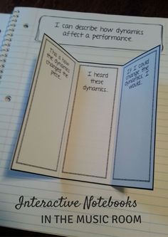 Interactive Notebooks in the Music Room: Great suggestions for starting to use notebooks in your Kodaly-inspired, Orff inspired, or active music-making lesson!