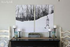 Bold Split-Photo Wall Decor