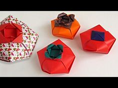 Origami Tomato-Box designed by Carlos Bocanegra, video tutorial by Leyla Torres