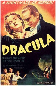 Dracula A Nightmare of Horror! Bela Lugosi Movie Poster 11x17