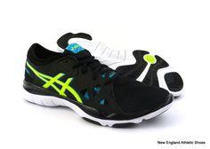 best cheap b3a17 f7ffd Asics women s GEL‑Fit Nova 2 training shoes sneakers Black Flash Yellow Blue