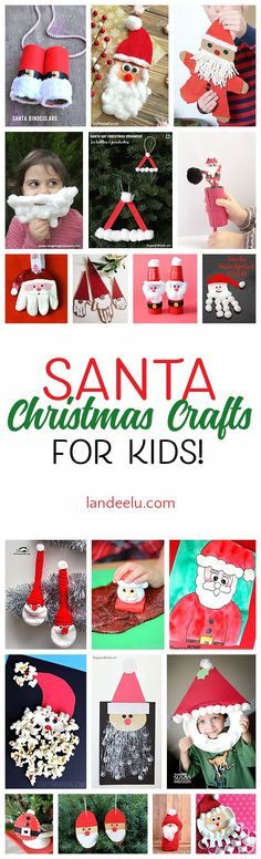 These Santa Christmas crafts for kids are too stinkin' cute!