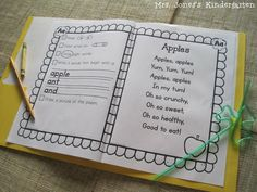 A to Z Poetry Notebook! 26 poems and tasks to help teach letters, sounds, and concepts of print. $